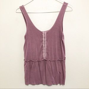 American Eagle Soft and Sexy Ruffle Tank